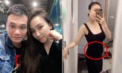 Bầu sinh đôi ở tháng thứ 4, vợ Khắc Việt vẫn tự tin diện váy body phô vóc dáng thon gọn bất ngờ