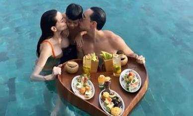 Bạn gái mang thai, Kim Lý đúng chuẩn bạn trai ngọt ngào, chăm Subeo tận tâm hết nấc