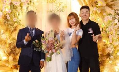 Đi đám cưới, Khởi My diện đồ giản dị trong khi Kelvin Khánh lộ thân hình phát tướng