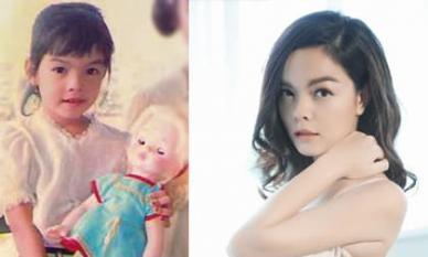 Phạm Quỳnh Anh hé lộ loạt ảnh ngày bé cực xinh, giống hệt con gái thứ hai Tuệ An