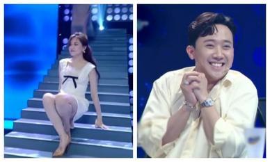 Hari Won suýt trượt chân ngã ngay trên sân khấu, phản ứng của Trấn Thành mới bất ngờ