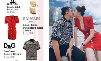 Bóc giá set đồ hiệu Hương Giang và Matt Liu dát lên người trong lần hẹn hò trên du thuyền
