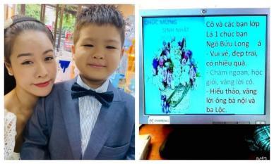 Vừa vui sinh nhật bên con trai, Nhật Kim Anh đã than thở vì cô giáo con không biết sự hiện diện của mẹ ruột