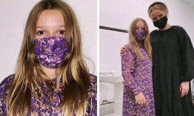 Mặc đồ do mẹ thiết kế, Harper bị chê như khoác rèm cửa lên người