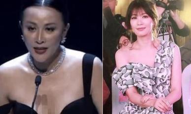Màn khoe body với váy lệch vai bất phân thắng bại: 'Mẹ 3 con' Giả Tịnh Văn có đọ được Lưu Gia Linh đã 54 tuổi?