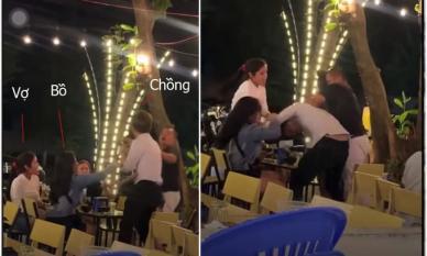 Chồng ngang nhiên chở bồ ra nhậu với vợ và màn đánh ghen khiến dân tình hả dạ