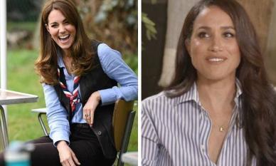 Vừa lộ diện sau tin đồn bầu bí lần 4, Công nương Kate liền bị cô em dâu Meghan cố tình chiếm sóng