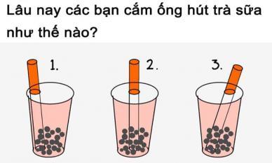 Tuyệt chiêu cắm ống hút trà sữa chuẩn chỉnh từng mi-li-mét khiến dân mạng xôn xao