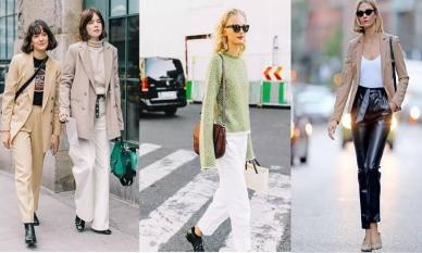 Áo len + quần ống suông = công thức 'mix and match' hot nhất mùa thu đông 2020