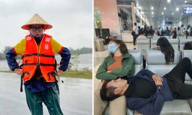 Lý Hải bị soi chuyện đăng ảnh ngủ ở sân bay khi đi từ thiện, Trang Trần lên tiếng đáp trả thay