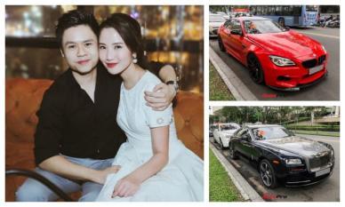 Nổi tiếng là tay chơi thứ thiệt, Phan Thành khiến dân mạng lác mắt trước dàn siêu xe rước dâu toàn hàng hiếm