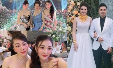 'Cô dâu đeo vàng trĩu cổ ở Nam Định' dự đám cưới chị họ: Nhìn không gian tiệc đúng chuẩn con nhà có điều kiện
