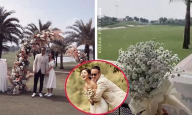 'Chơi lớn' hơn bạn thân Phanh Lee lấy chồng là đại gia nghìn tỷ, MC Thu Hoài tổ chức tiệc mời cưới ở sân golf
