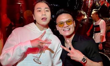 Quang Hải xuất hiện cực ngầu bên HLV 'Rap Việt' Karik sau loạt ồn ào tình ái