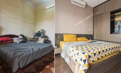 Phòng ngủ 30m2 cũ kỹ, đôi vợ chồng lên ý tưởng cải tạo thành không gian sang xịn chẳng kém homestay