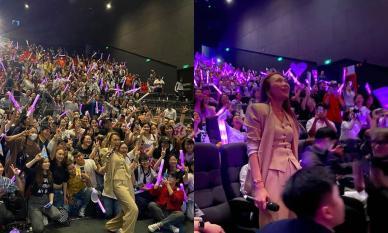 Mỹ Tâm xúc động bật khóc khi hàng trăm người hâm mộ tổ chức sinh nhật cho mình trong buổi họp fan meeting