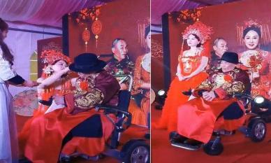 Cụ ông 80 tuổi ngồi xe lăn cưới cô dâu xinh đẹp kém 42 tuổi khiến ai cũng trầm trồ