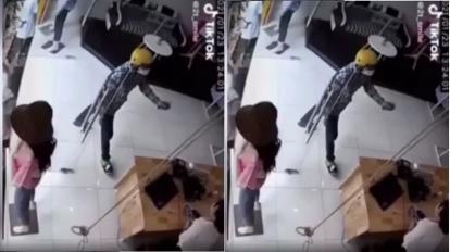 Truy tìm tên cướp táo tợn xịt hơi cay vào mặt nữ nhân viên, ôm laptop bỏ chạy