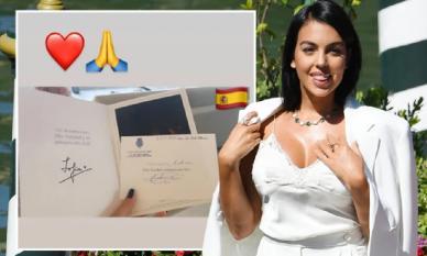 Món quà từ Hoàng gia Tây Ban Nha gửi bạn gái Ronaldo cho thấy cô nàng không chỉ biết ăn chơi bằng tiền của bạn trai như tin đồn