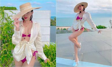 Tóc Tiên diện bikini phơi mình bỏng mắt, khoe ngực căng đầy và vòng eo 'con kiến'