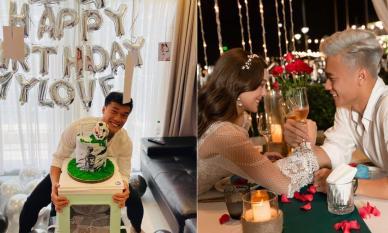 Bạn gái là mẫu Tây tự trang trí mừng sinh nhật thủ môn Bùi Tiến Dũng