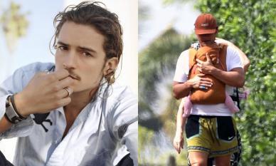 Từng là chàng 'cướp biển' đào hoa nhưng nhìn hình ảnh này là thấy Orlando Bloom đã trở thành 'ông bố bỉm sữa' chính hiệu