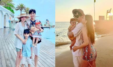 Gia đình Thu Thủy đi du lịch Vũng Tàu, công chúa nhỏ biểu cảm cực yêu trong lần đầu đi biển