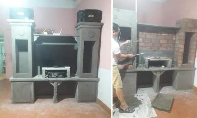 Chủ nhà xây tủ bằng xi măng để tiết kiệm và chống mối mọt, nhưng dân mạng lại thấy 'sợ sợ'