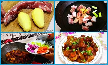 Kinh nghiệm làm món thịt ba chỉ kho khoai tây cực ngon, màu đẹp mướt mắt như ngoài hàng