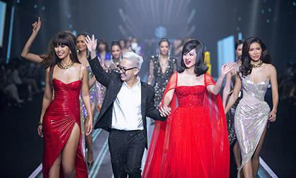 Dàn vedette gồm 8 mỹ nhân của nhiều thế hệ xuất hiện trong show diễn của NTK Chung Thanh Phong