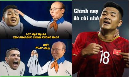 Loạt ảnh chế sau trận thắng của U22 Việt Nam trước U22 Singapore: 'Chinh nay hết đen rồi'