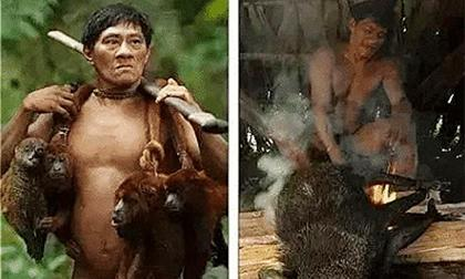 Bộ lạc nguyên thủy bậc nhất thế giới: Chuyên ăn thịt khỉ, ngón chân chỉ có 1 đốt