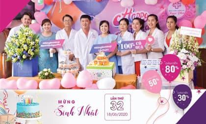 Bệnh viện Thẩm mỹ Ngọc Phú tưng bừng chào đón sinh nhật lần thứ 32