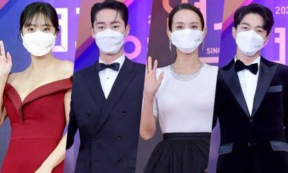 Dàn sao Kbiz trên thảm đỏ Lễ trao giải phim truyền hình KBS 2020: Vẫn tỏa sáng dù ai nấy đều đeo khẩu trang