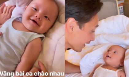 Cặp sinh đôi của Hà Hồ - Kim Lý lộ điểm chung này khi ở cạnh bố