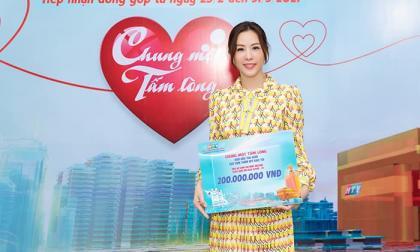 Hoa hậu Thu Hoài cùng hôn phu ủng hộ 200 triệu mua Vaccine ngừa Covid-19