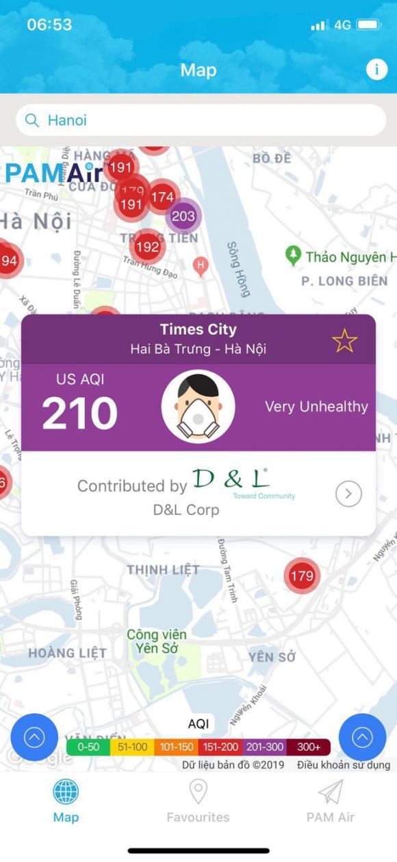 ô nhiễm không khí, Hà Nội ô nhiễm, Air Visual