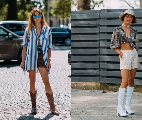 áo sơ mi, quần short, thời trang sao