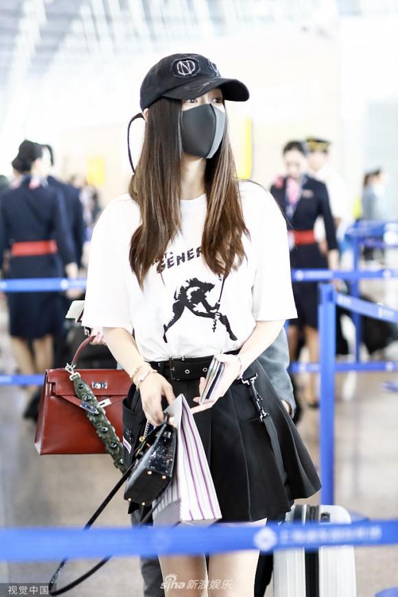 angelababy, thời trang sân bay, sao hoa ngữ