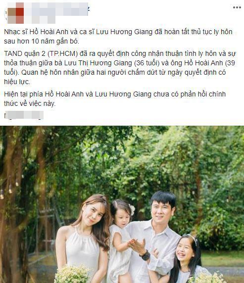 Hồ Hoài Anh, Lưu Hương Giang, sao việt