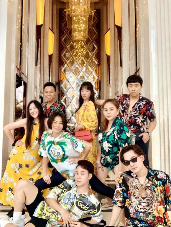 Lê Giang,Hari Won,Trúc Nhân,MC Trần Thành,hội bạn thân Trấn Thành,vợ chồng Hari Won,Thu Minh,sao Việt