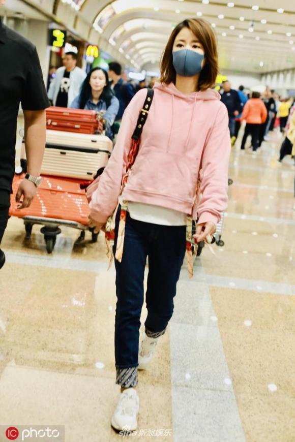 lâm tâm như, mệt mỏi, thời trang sân bay, sao hoa ngữ