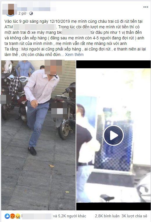 Thanh Xuân, đánh phụ nữ ở cây ATM, côn đồ