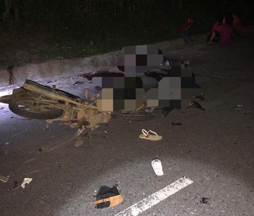 Tai nạn giao thông, xe máy đấu đầu 4 người chết, tai nạn chết người