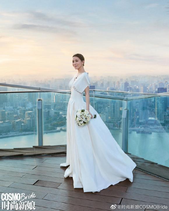xa thi mạn, váy cưới, cô dâu, sao hong kong