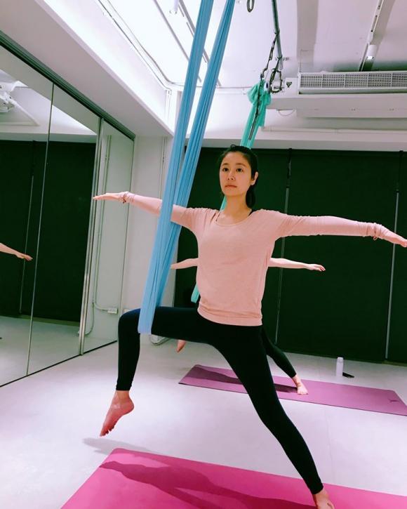 lâm tâm như, giữ dáng, yoga bay, sao hoa ngữ