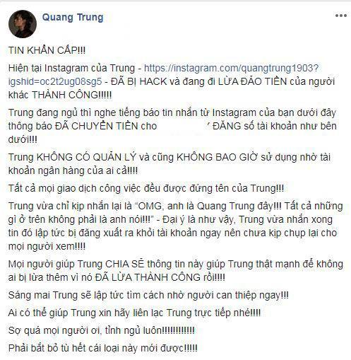 Quang Trung, diễn viên Quang Trung, sao Việt