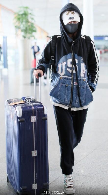 triệu vy, thời trang sân bay, bụi bặm, sao hoa ngữ