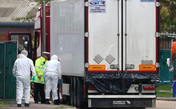 xe container, 39 nạn nhân chết ở Anh, buôn lậu người, nạn nhân chết ở Anh