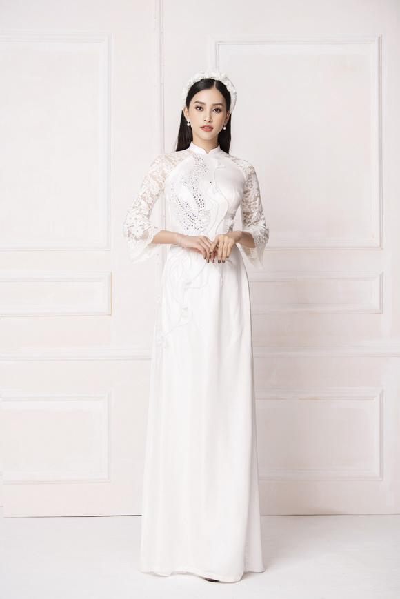 Ngô Nhật Huy phù phép Hoa hậu Tiểu Vy đẹp như thiên thần trong bộ sưu tập áo dài cưới mới nhất